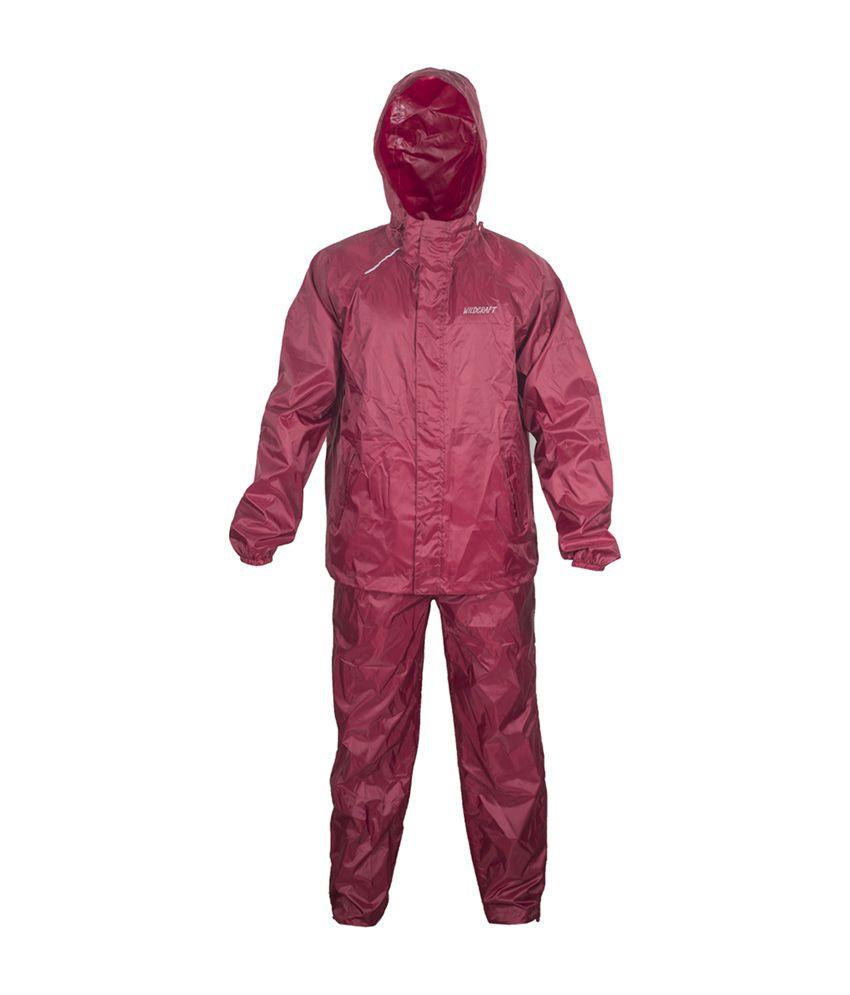 Wildcraft Basic Plus Rain Suit - Monk Red