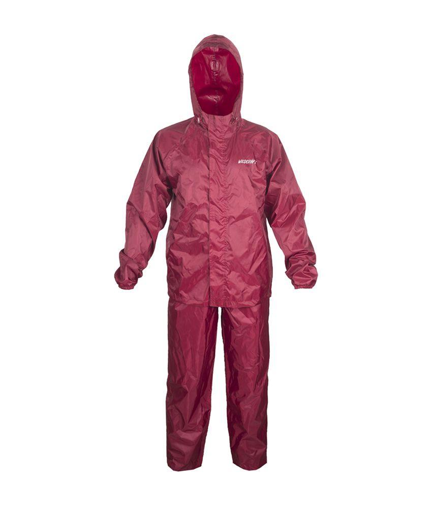 Wildcraft Basic Rain Suit - Monk Red