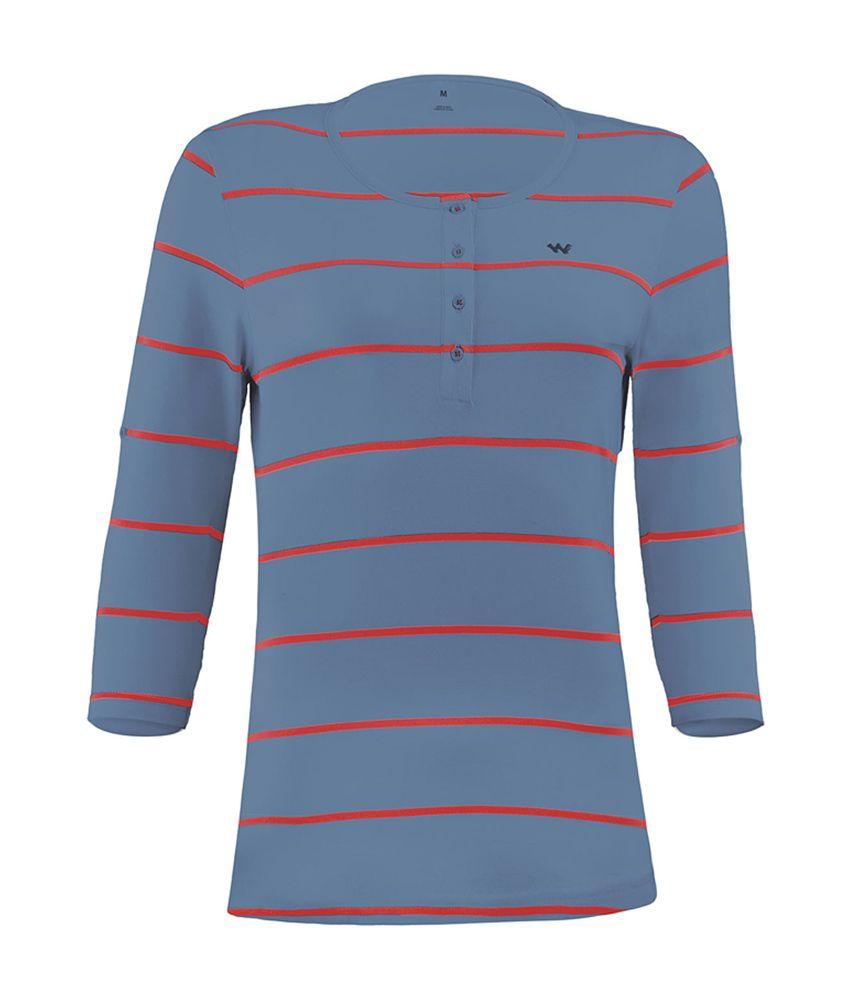 Wildcraft Essential Henley T-Shirt - Blue