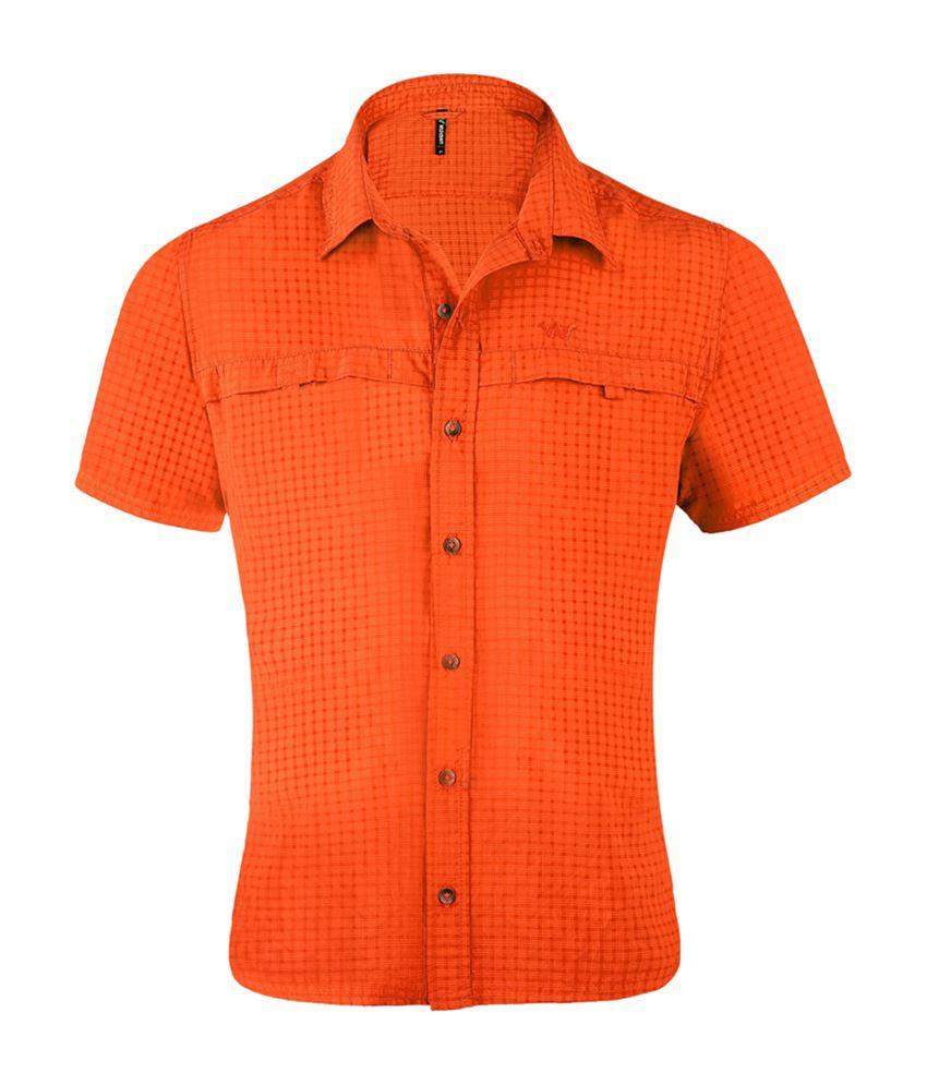 Wildcraft Men's HS Hiking Shirt - Orange