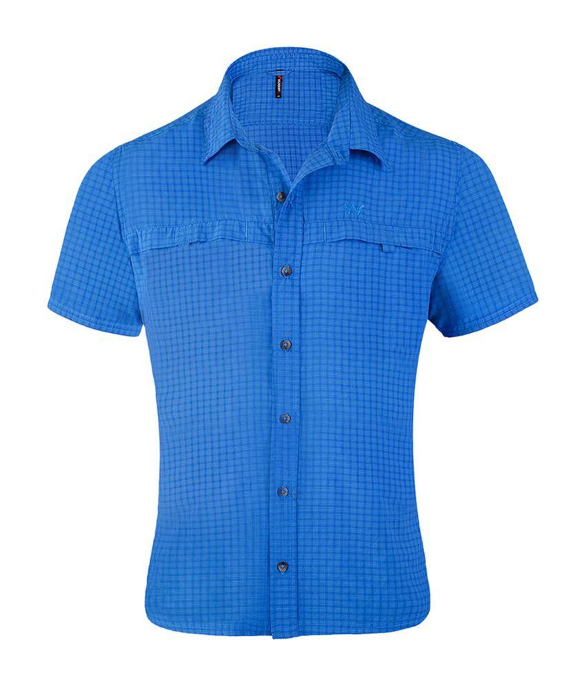 Wildcraft Men's HS Hiking Shirt - Blue