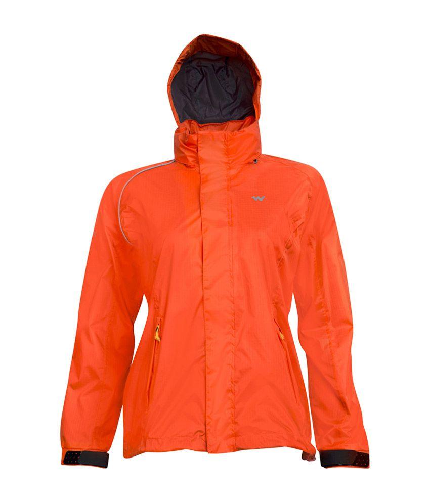 Wildcraft Women's Orange Rain Jacket