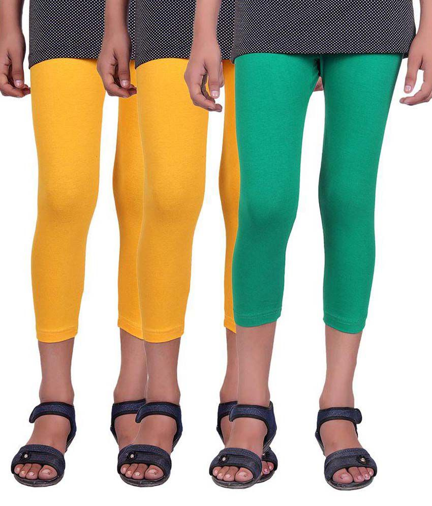Alisha Multicolor Cotton Capris - Pack of 3