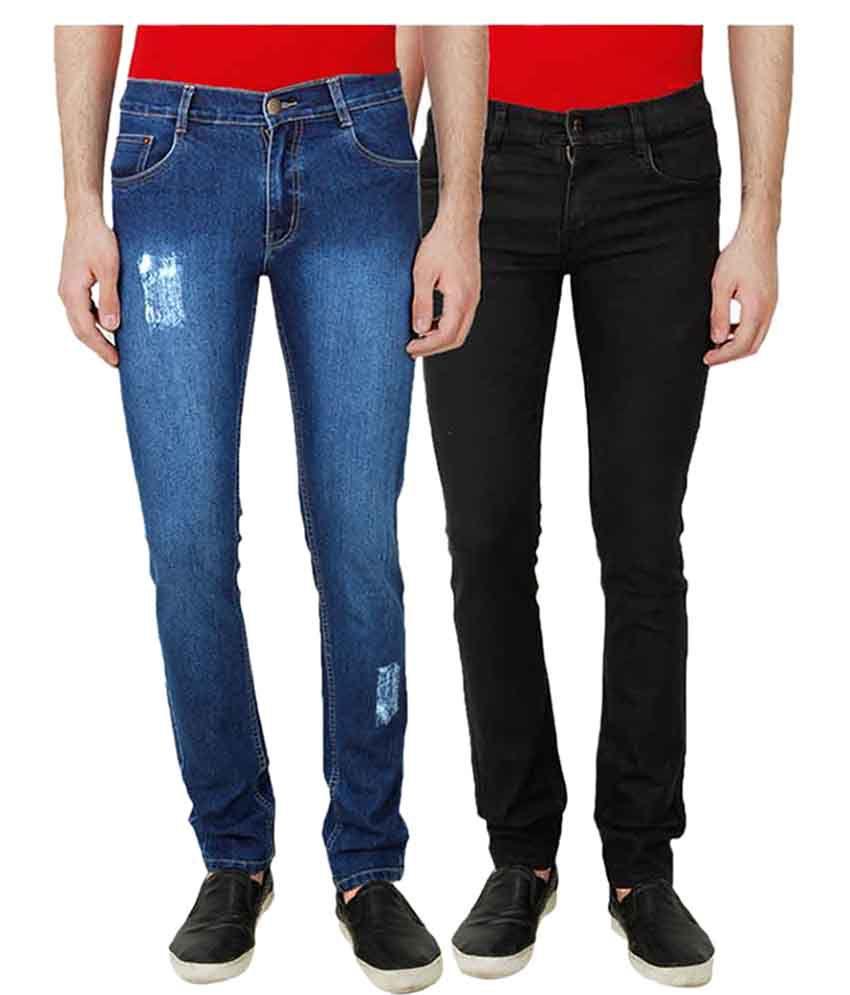 Ansh Fashion Wear Multi Regular Fit Solid Jeans