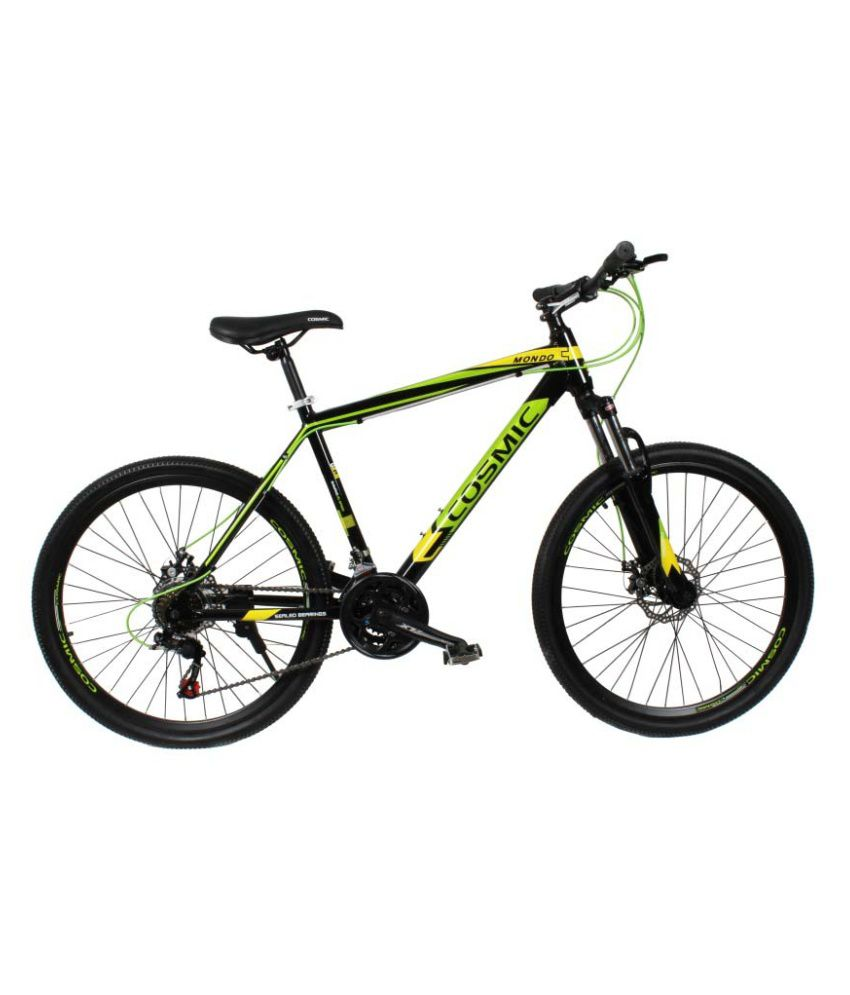 Upto 50% Off On Bicycles By Snapdeal | COSMIC MONDO 21 SPEED MTB BICYCLE BLACK/GREEN-SPECIAL EDITION @ Rs.14,999