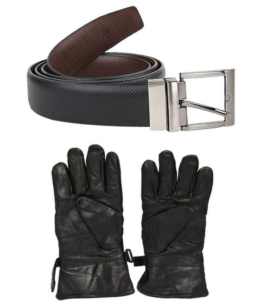 Kailasa Multicolour Belts with Leather Gloves - Pack of 2