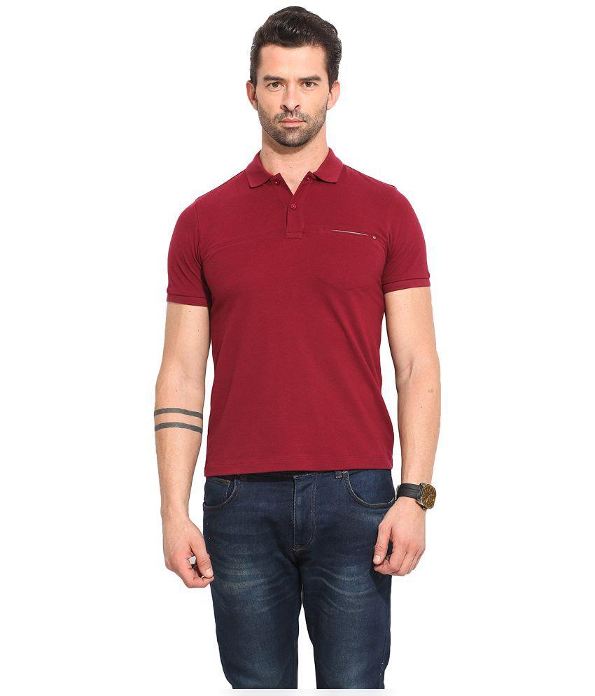 Leo Sansini Maroon Henley T Shirt