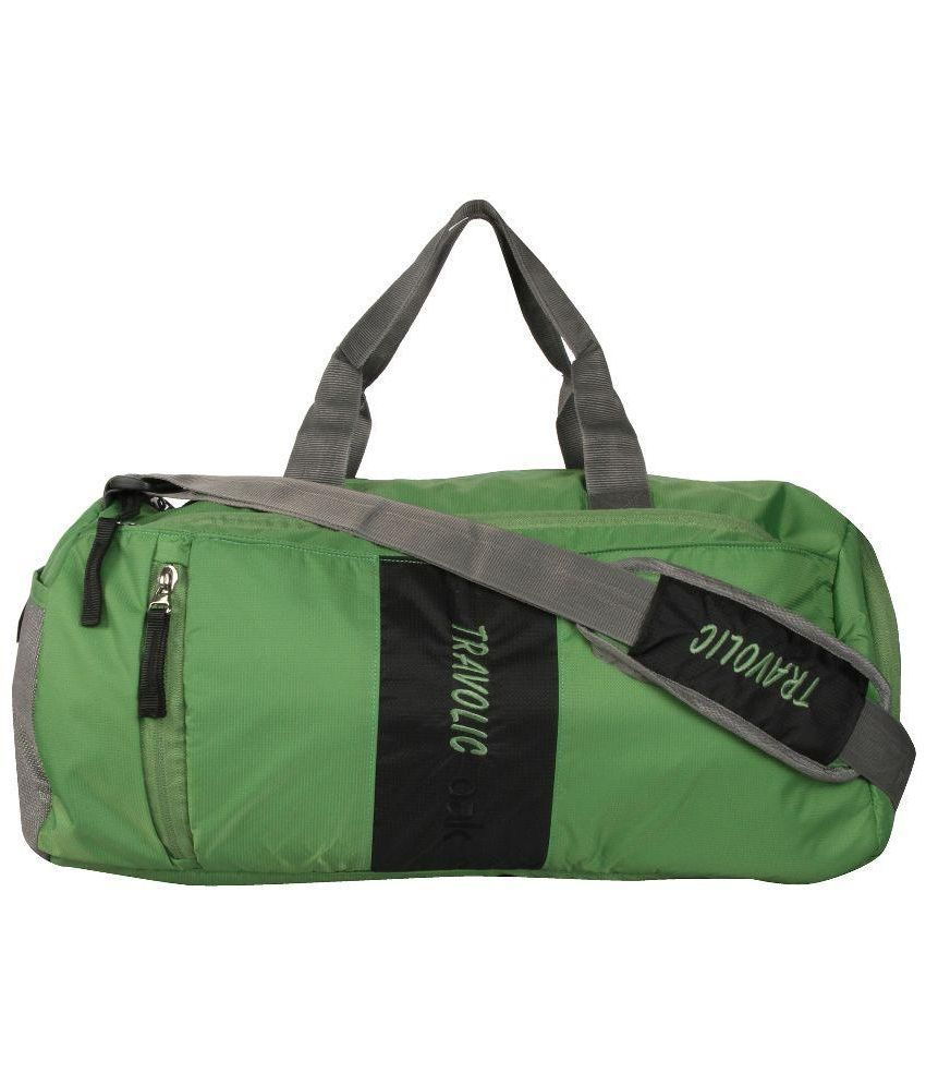 Travolic Green Medium Polyester Gym Bag