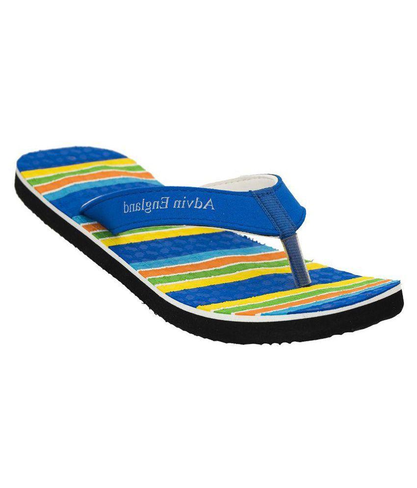 Advin England Multi Color Flip Flops