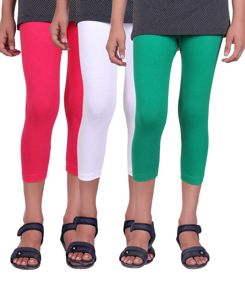 Alisha Multicolor Cotton Capri - Pack of 3