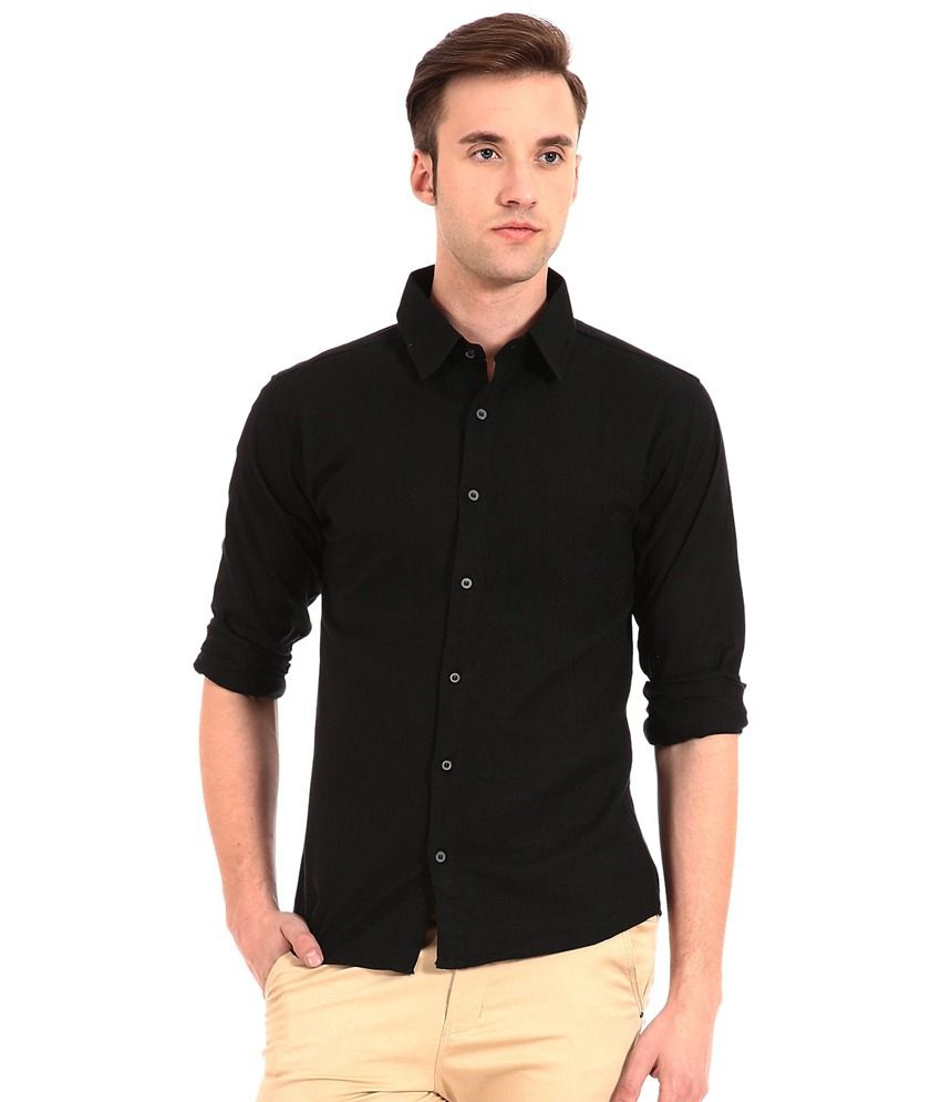 9h Black Casual Shirt - Buy 9h Black Casual Shirt Online at Best ...
