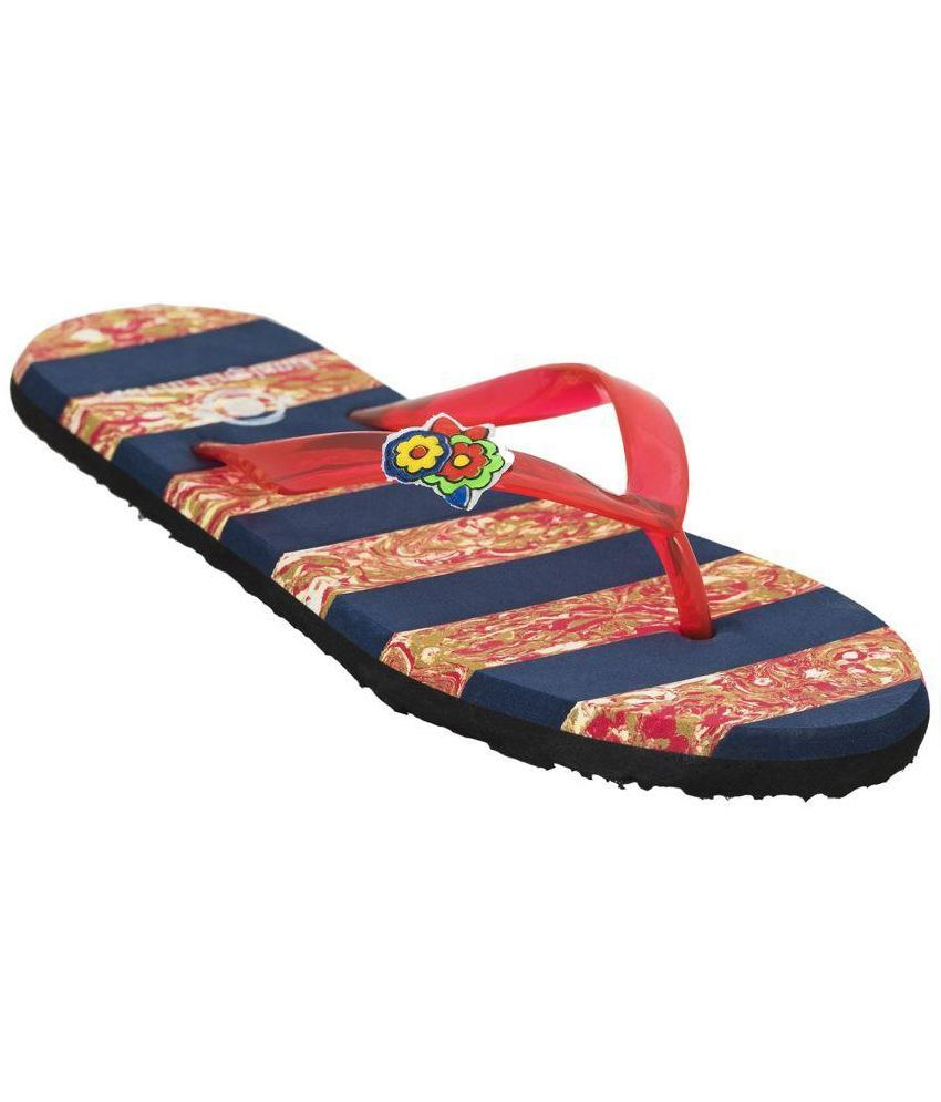 Advin England Multi Color Flip Flops