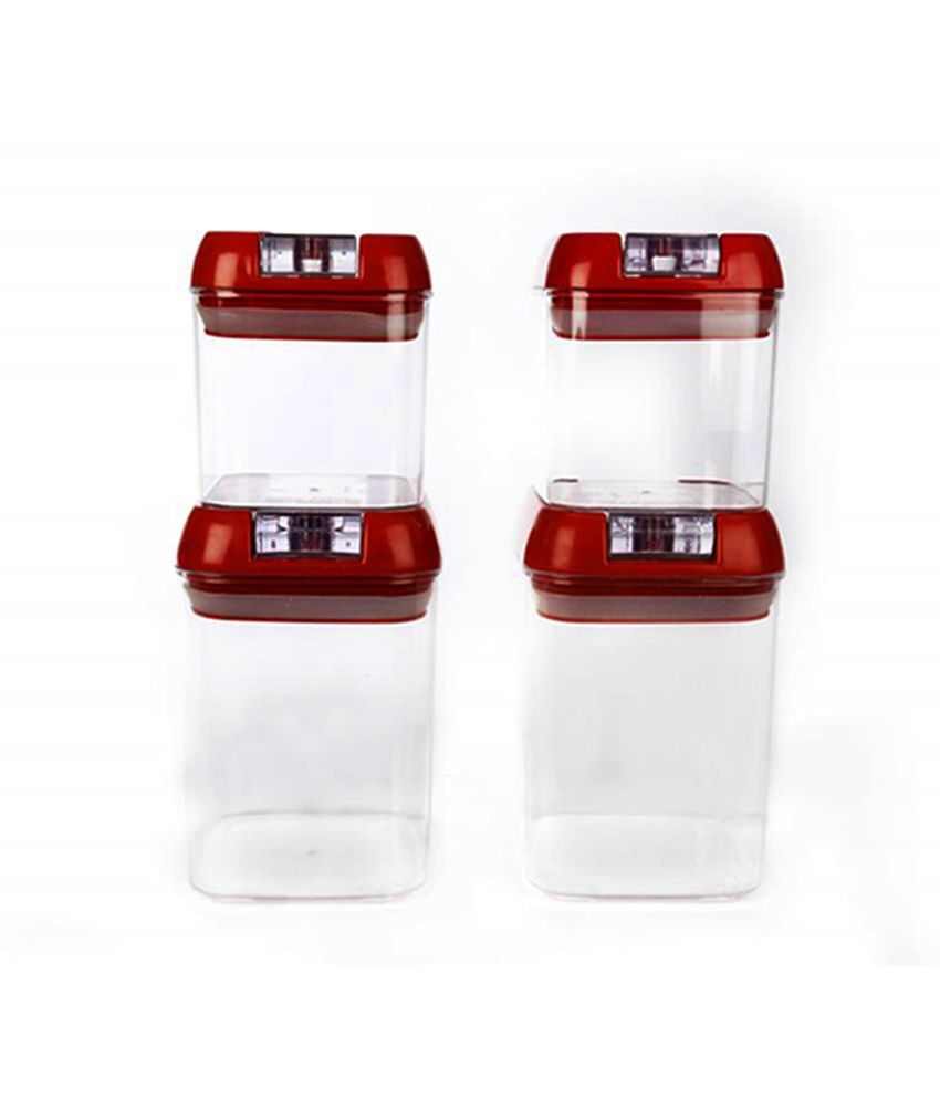 Cutting EDGE Flip Lock Silicon Premium Storage Canisters Combo (Set of 4)