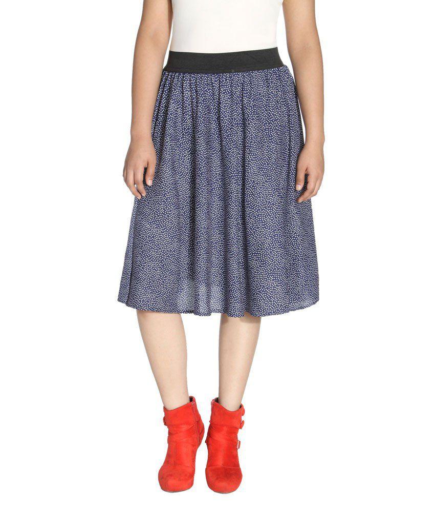 buy fadrin blue crepe midi skirt at best prices in