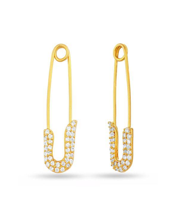 Lecalla Golden Hanging Earrings