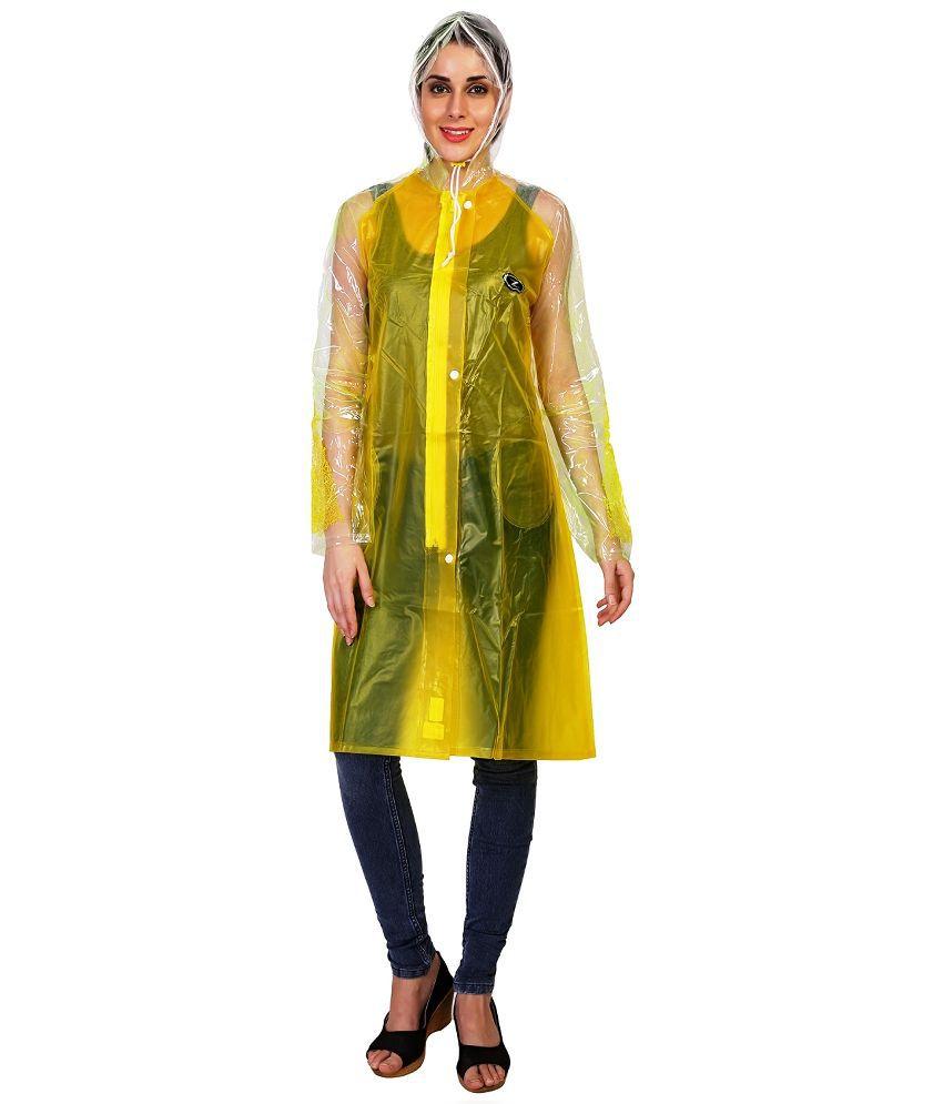 Zeeel Yellow Waterproof Raincoat