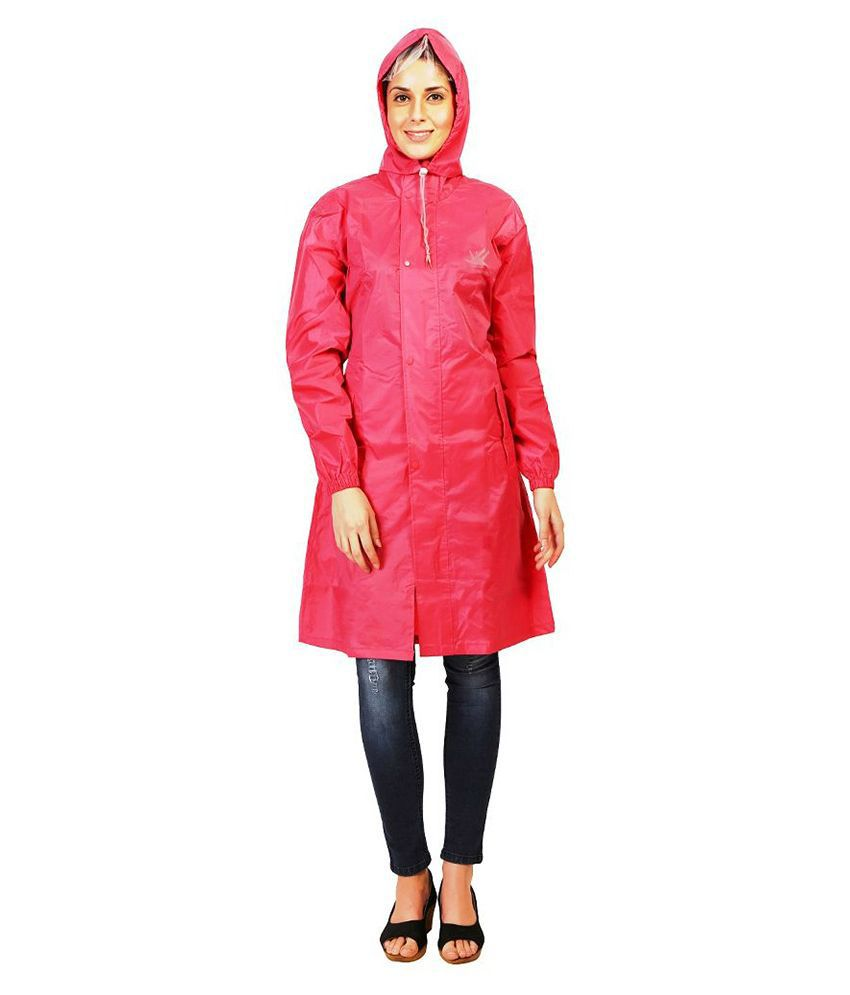 Zeel Pink Waterproof Raincoat