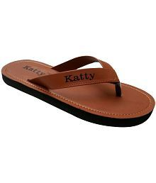 Katty Brown Flip Flops