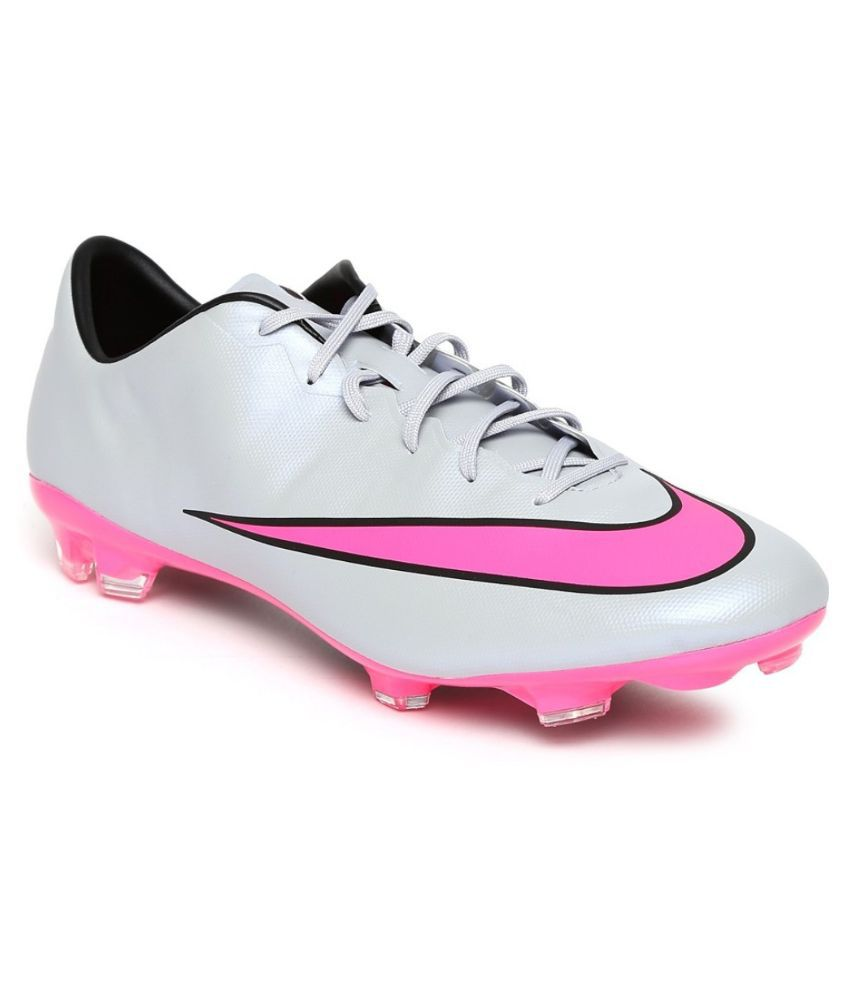 c259cf04c85 Nike Pink Football Shoes Online At. Nike Kids Black Junior Mercurial ...