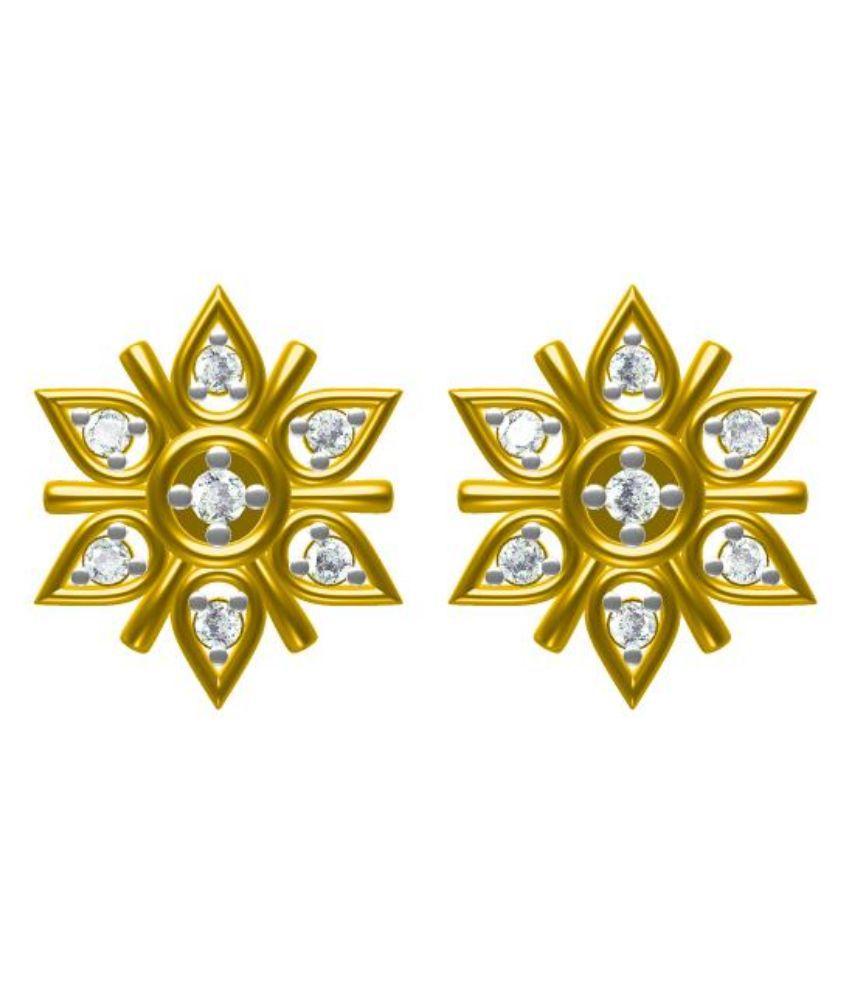 Sakshi Jewels 14kt Gold Studs Earrings