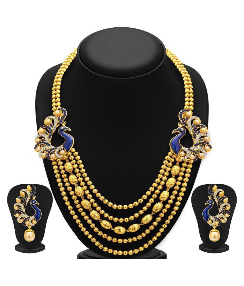 Sukkhi Golden Alloy Necklace Set