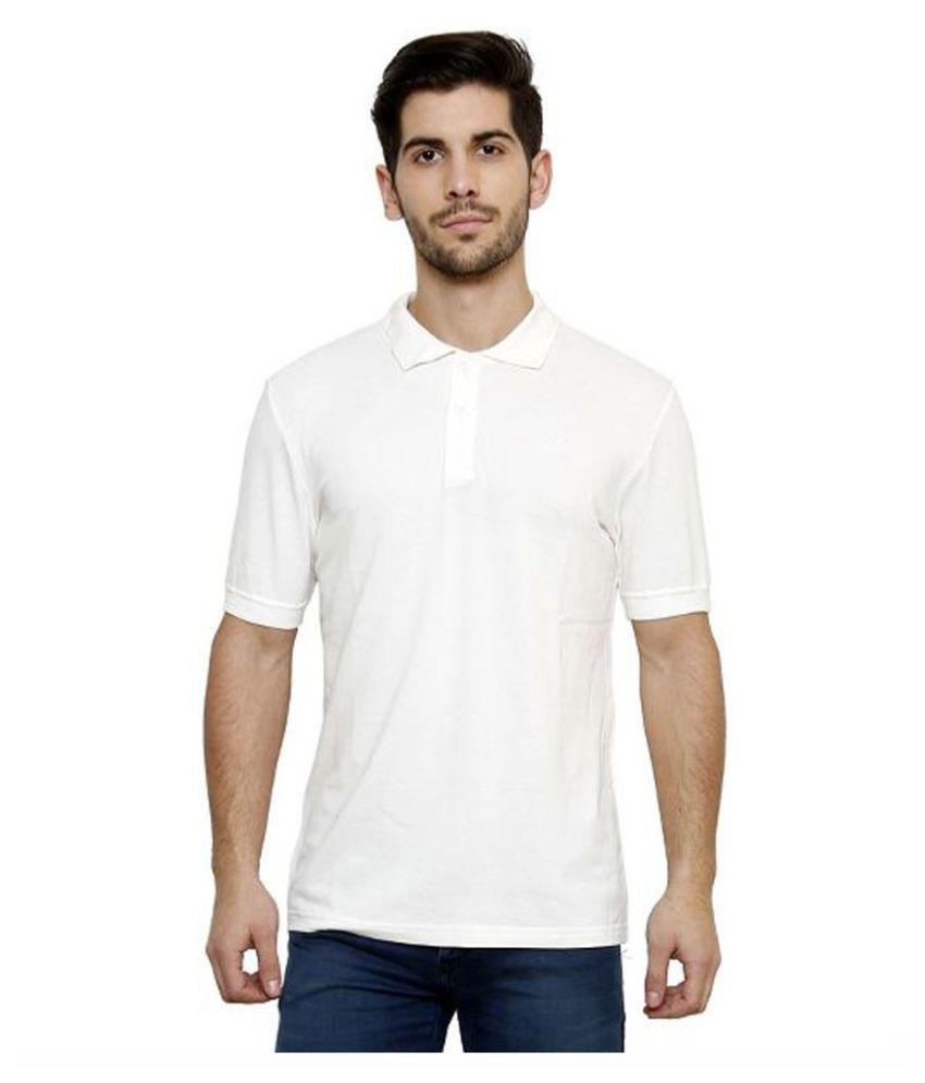 Desinvolt White Round T Shirt