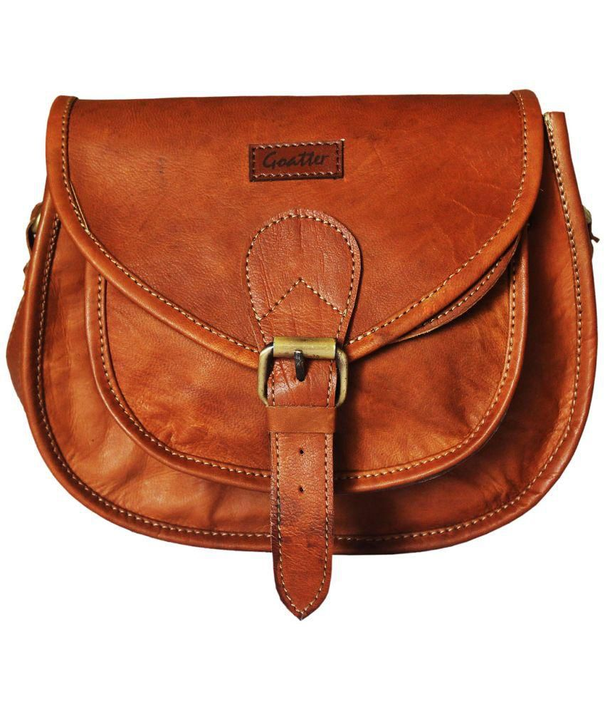 GOATTER LEATHER MESSENGER BAG price at Flipkart, Snapdeal, Ebay ...