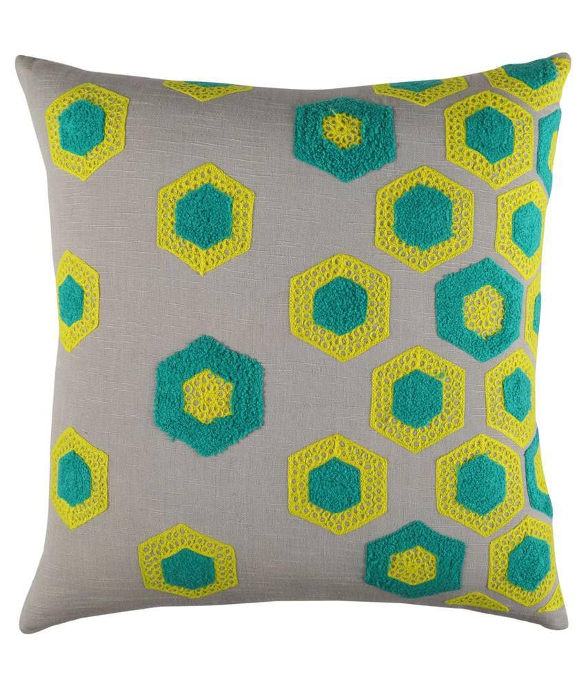 Rajrang Multicolor Cotton Cushion Cover