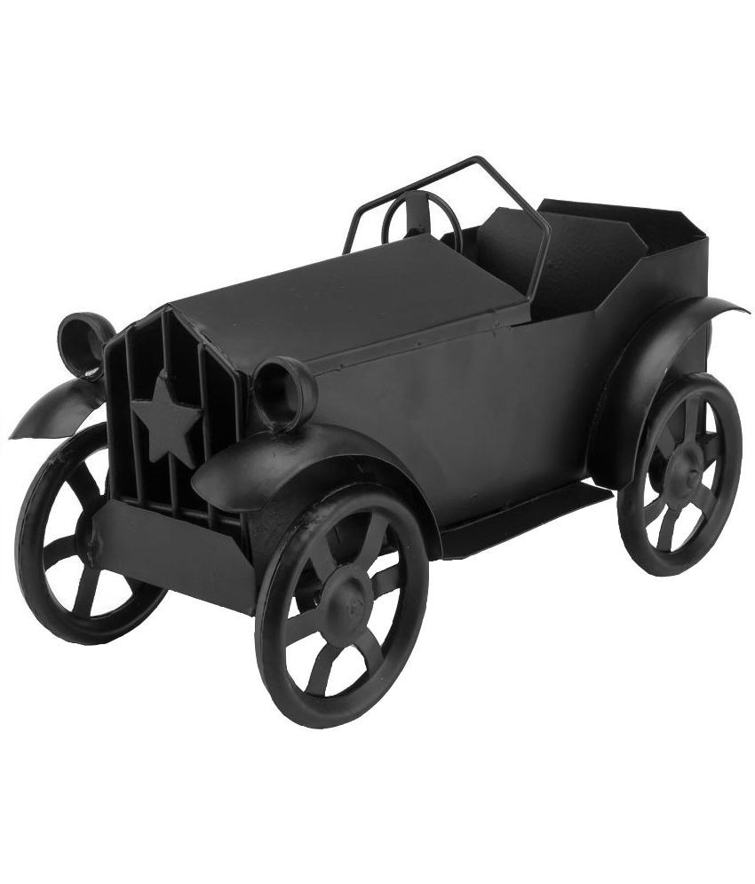 Vintage Crafts Black Iron Vintage Car