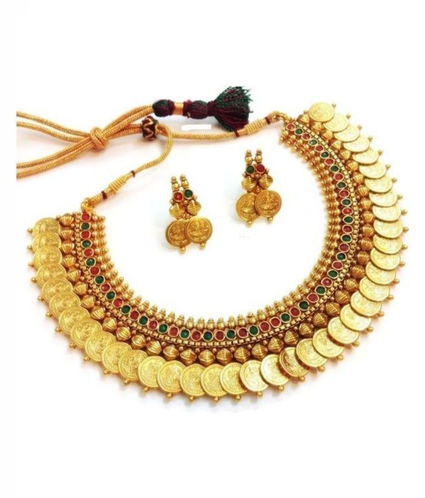 Sitashi Laxmi Coin Gold Plated Necklaces Set