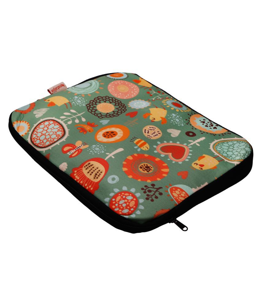 Nostaljia Multi Color Polyester Laptop Sleeve