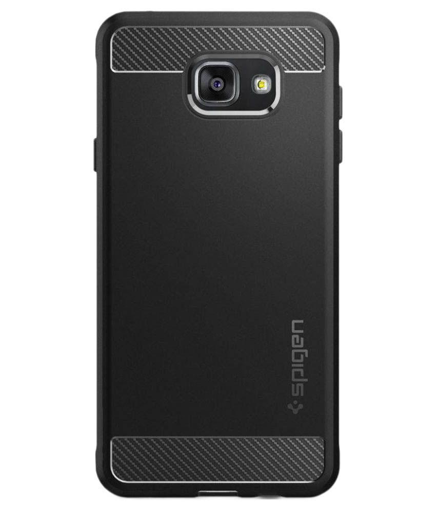 super popular 3ea3d a00c6 Spigen Galaxy A7 2016 Back Case Rugged Armor Black