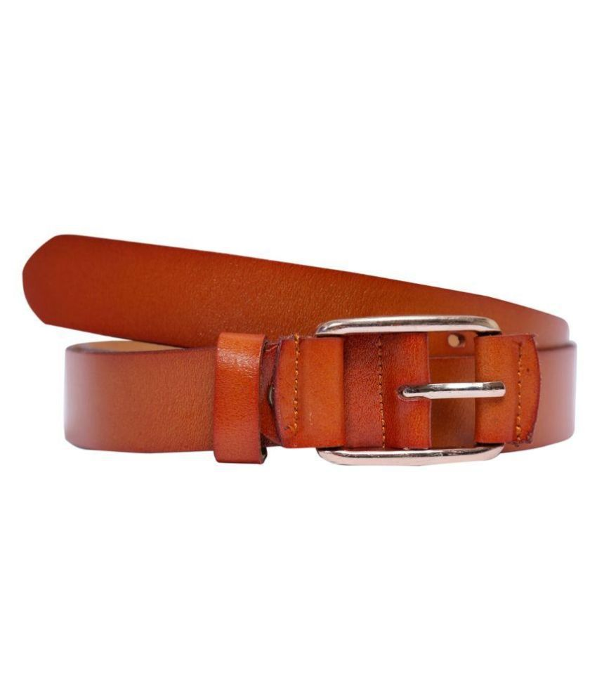 Bonny Tan Leather Formal Belt for Men