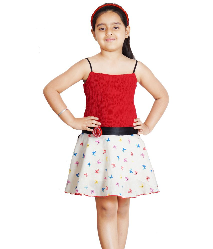 e1d4cf0cb9 Naughty Ninos Red Cotton Frock - Buy Naughty Ninos Red Cotton Frock Online  at Low Price - Snapdeal
