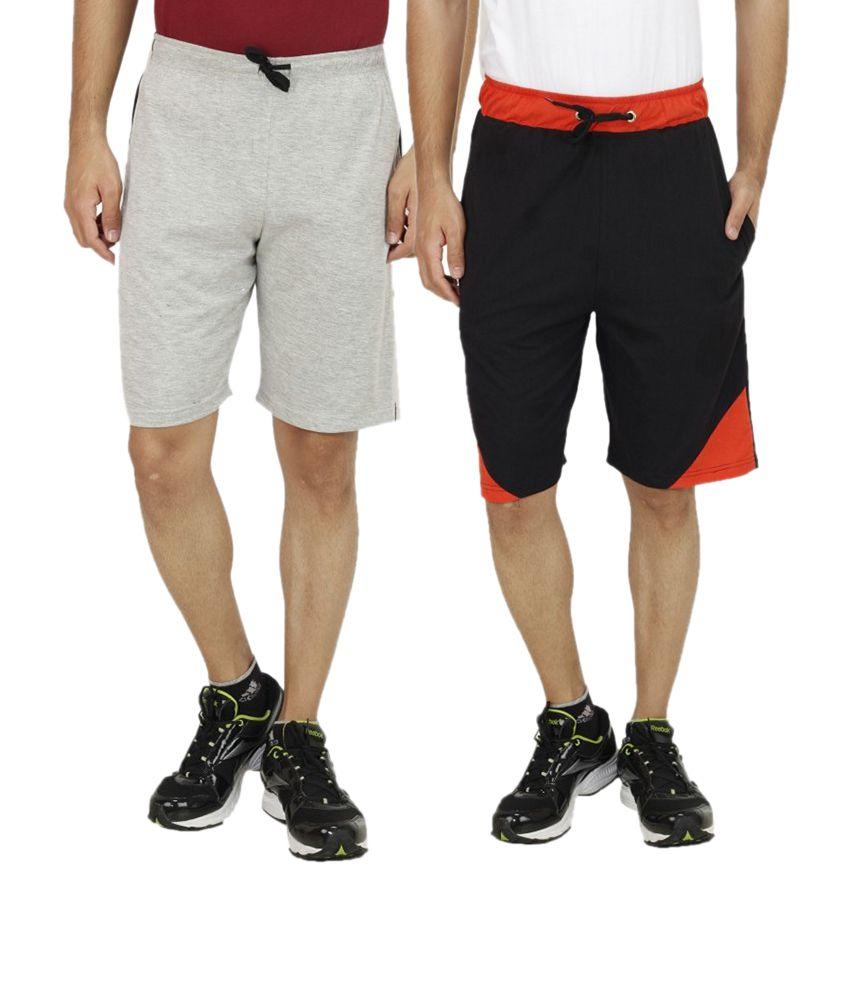 Sanvi Traders Multi Shorts Pack of 2