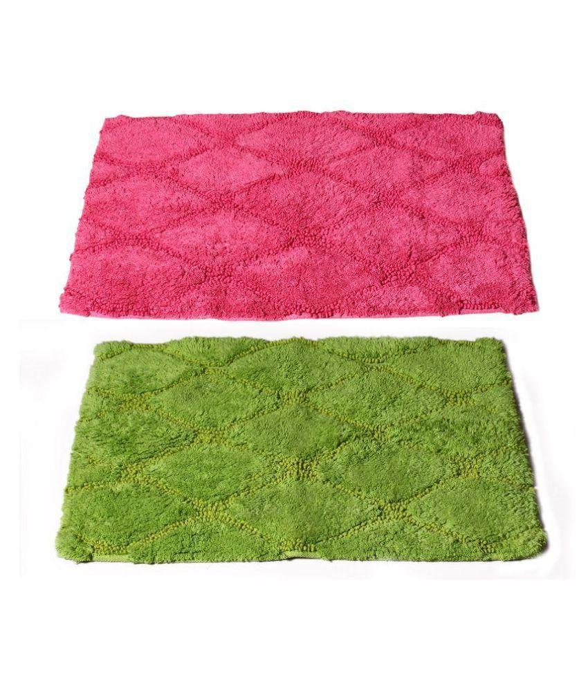 Story@Home Multicolor Cotton Floor Mat - Buy1 Get1