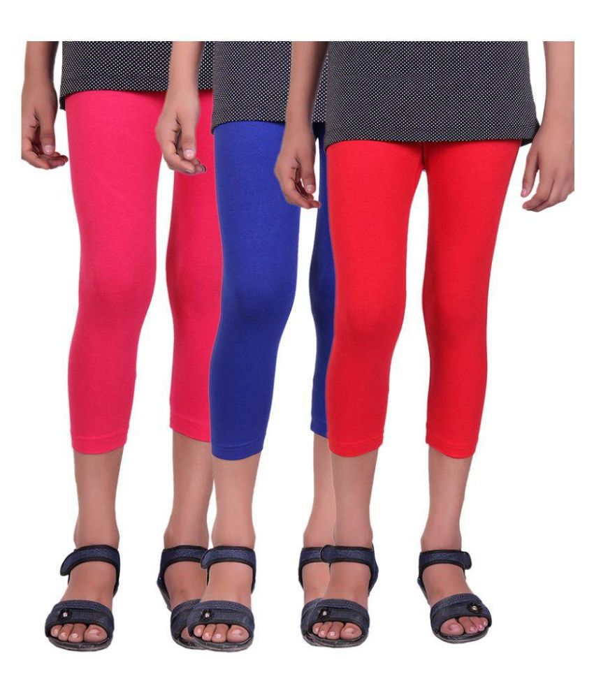 Alisha Multicolor Capri - Pack of 3
