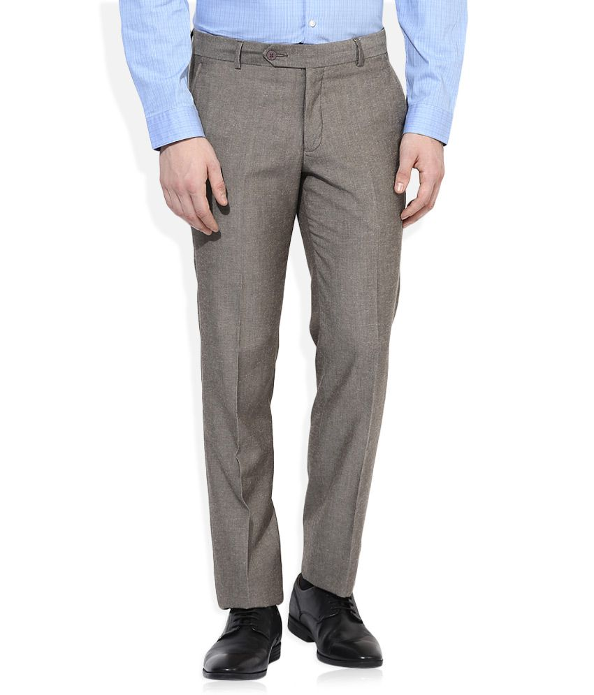 John Players Grey Formals Trouser