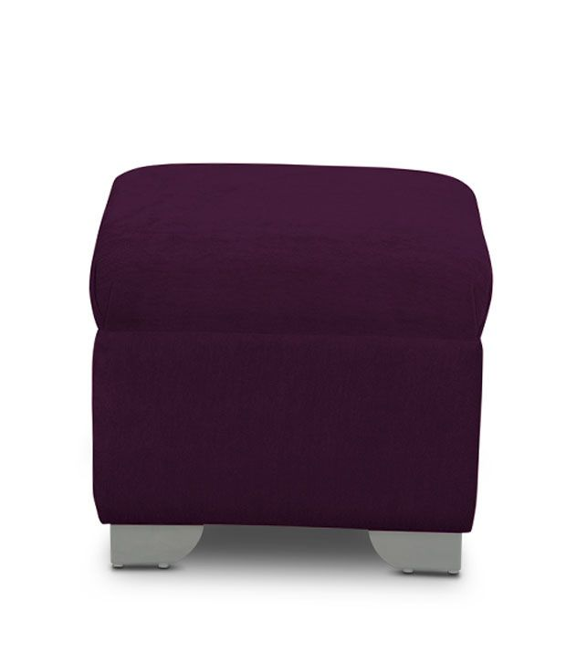 S K Furniture Purple Sofa Set With Center Table & Pouffe ...