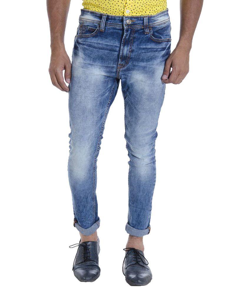 Zara Man Blue Skinny Fit Washed Jeans Buy Zara Man Blue Skinny Fit