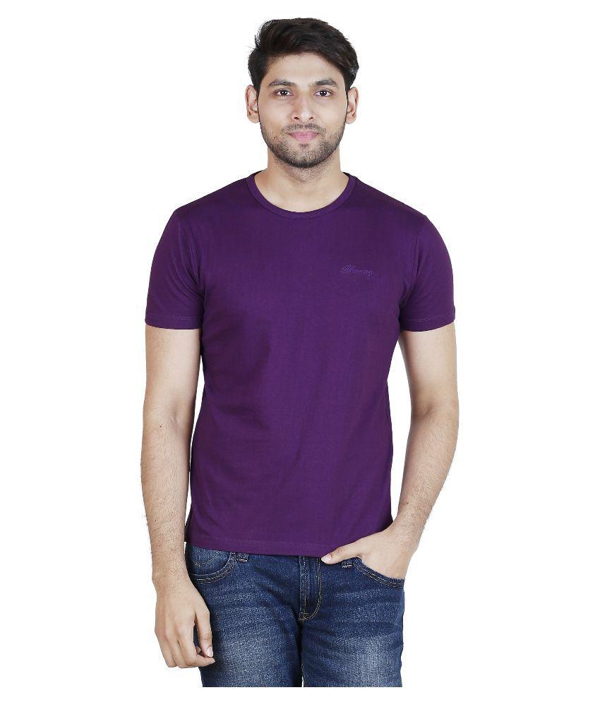 Blumerq Purple Round T Shirt
