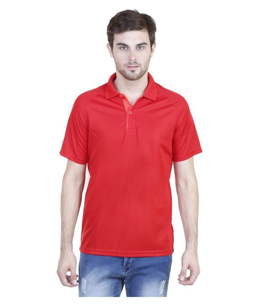 Adidas Red Polo T Shirts