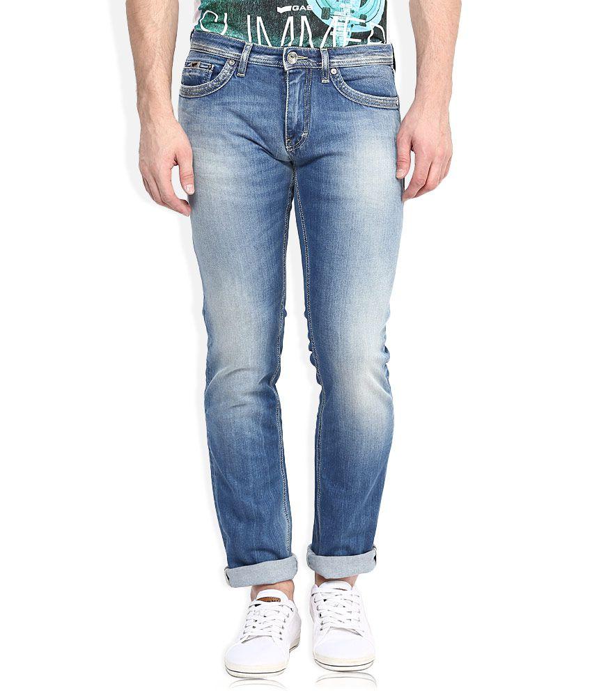 GAS Blue Slim Fit Jeans