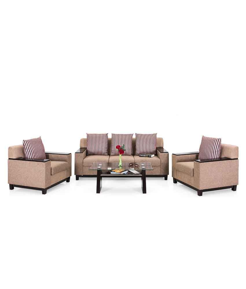 b2bfe43c742 Royal Oak Milan Fabric 3+1+1 Sofa Set - Buy Royal Oak Milan Fabric 3 ...