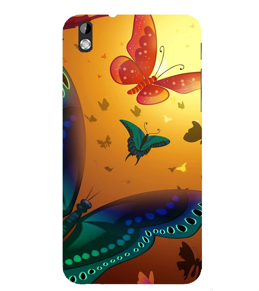 Evaluze butterfly Printed Back Case Cover for HTC DESIRE 816