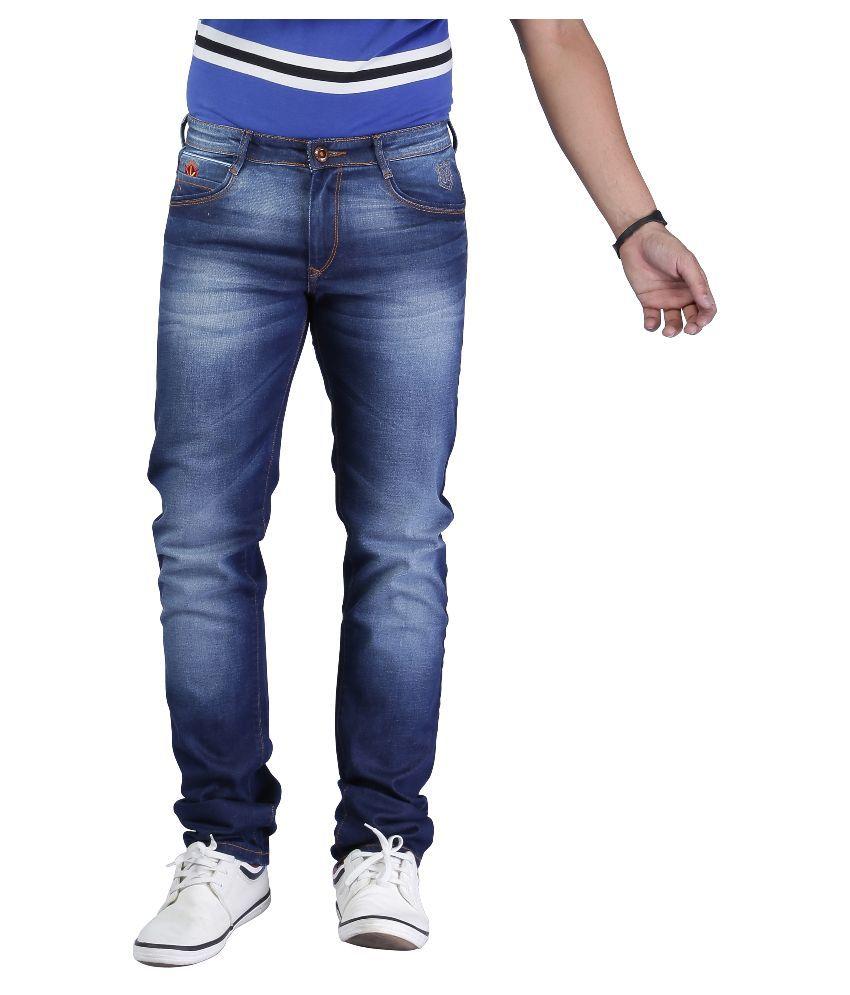 Nostrum Jeans Blue Slim Fit Washed Jeans