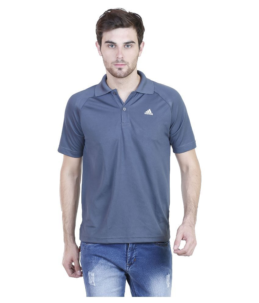 Adidas Grey Polo T Shirts
