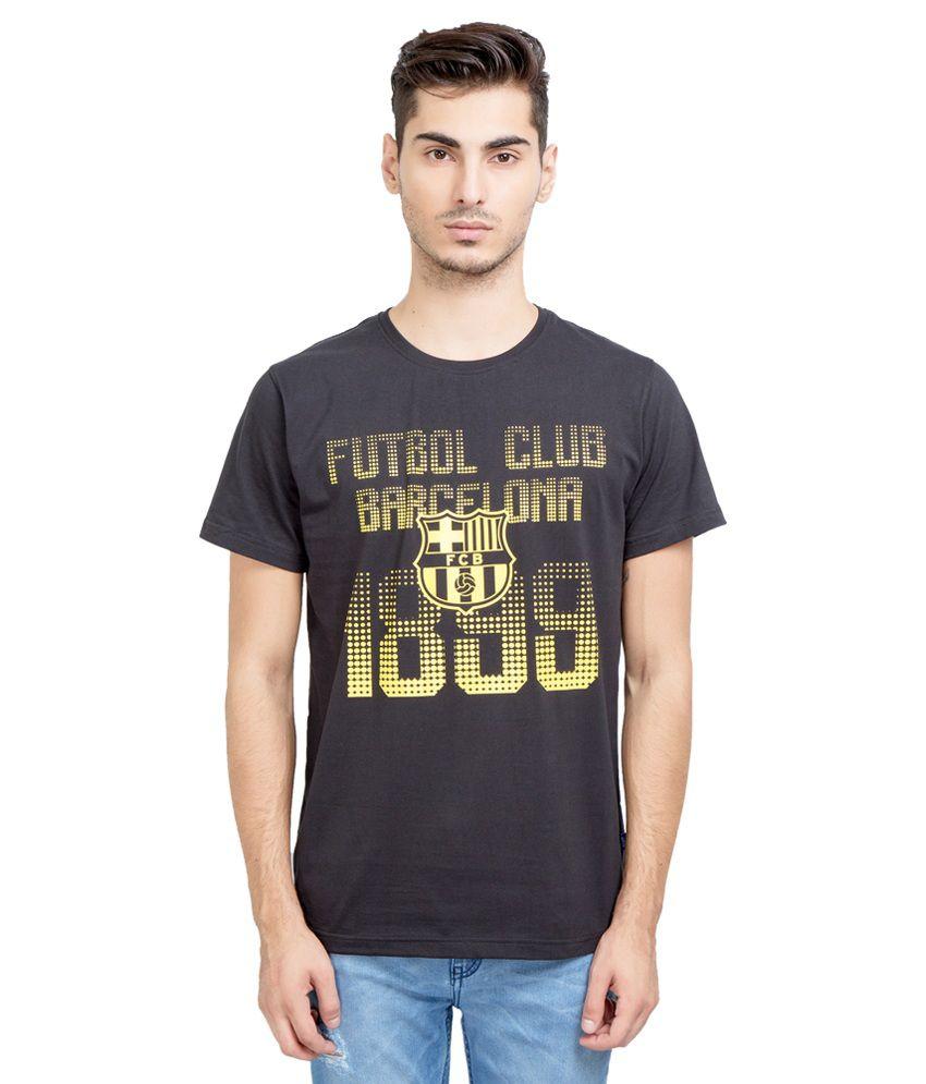 FC Barcelona Black Round T Shirt