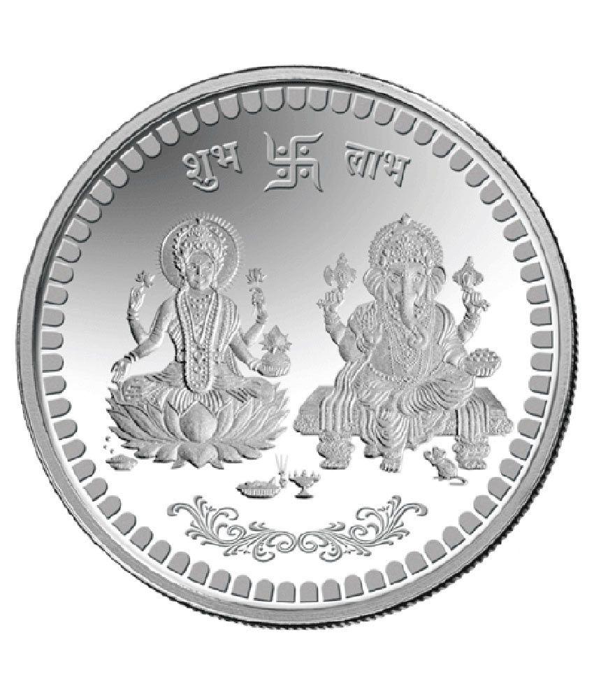 Mmtc Pamp 5 Gm Silver Coin Laxmi Ganesh