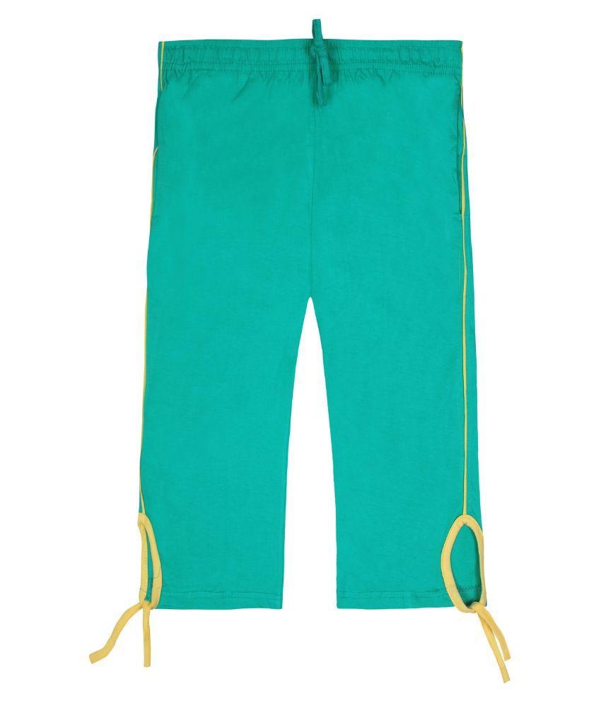 Jazzup Turquoise Cotton Capri